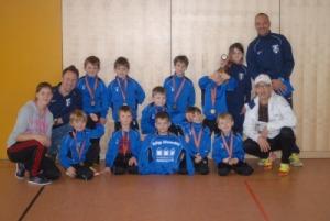 Die F4-Jugend der SpVgg Altenerding bei den amadeus Hallenfußballtagen.